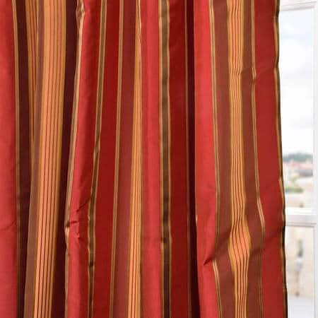 Melrose Silk Taffeta Satin Stripe Fabric