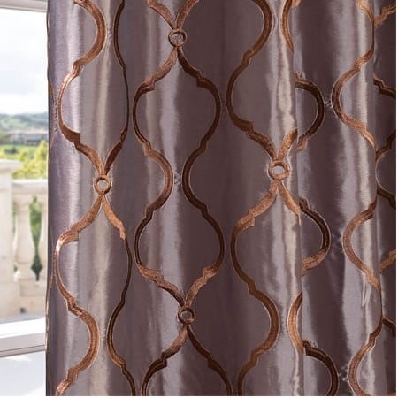 Tunisia Grey Designer Embroidered Curtain