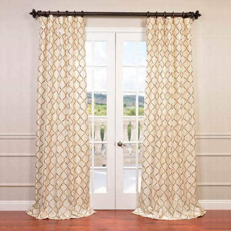 Tunisia Ivory Designer Embroidered Curtain