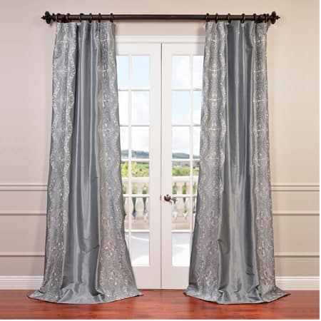 Chai Silver Grey Designer Embroidered Curtain