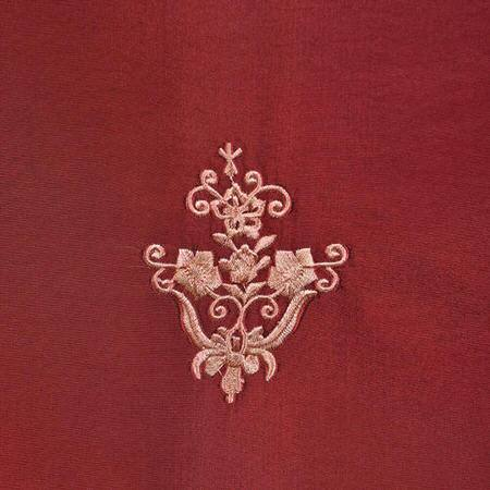 Trophy Syrah Red Designer Embroidered Swatch
