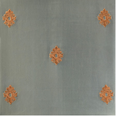 Trophy Silver Sea Embroidered Faux Silk Swatch