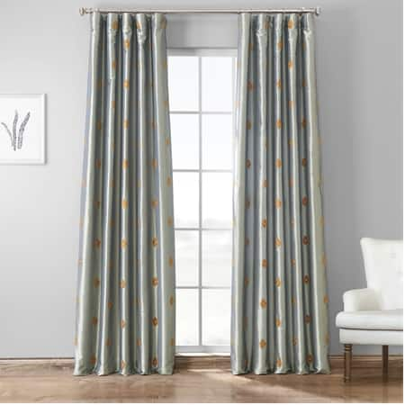 Trophy Grey & Gold Designer Embroidered Curtain