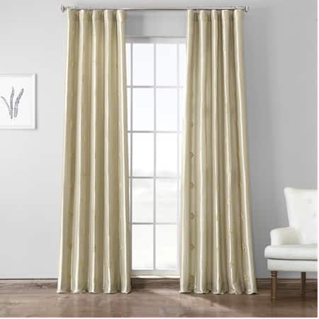 Trophy Cool Beige & Gold Designer Embroidered Curtain