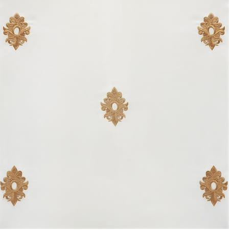 Trophy Gold & White Designer Embroidered Swatch