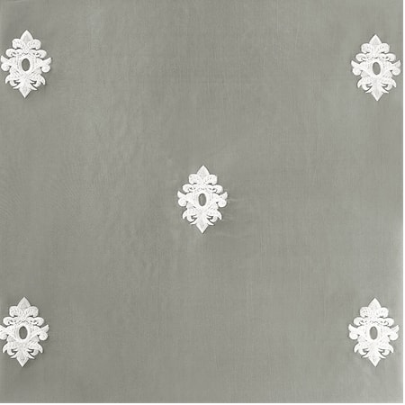 Trophy Platinum Embroidered Faux Silk Swatch