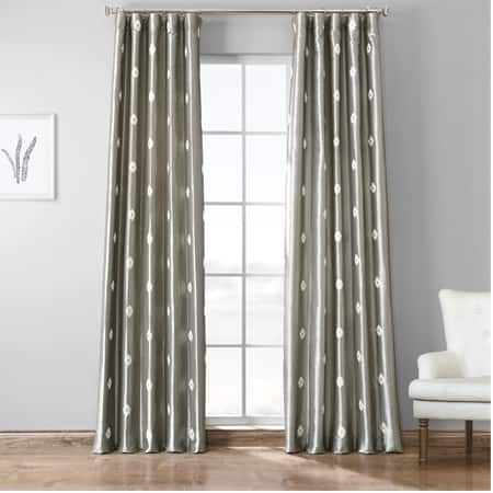 Trophy Platinum Grey Designer Embroidered Curtain