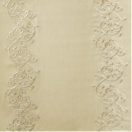 Papillon Cool Beige & Gold Designer Embroidered Swatch