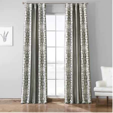 Renaissance Platinum Silver Designer Embroidered Curtain