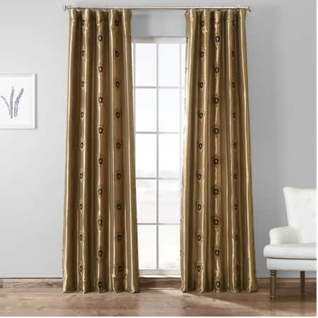 Zelda Gold Designer Embroidered Curtain