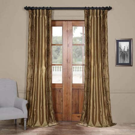 Chai Gold Designer Embroidered Curtain