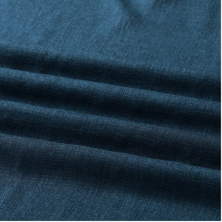 Stormy Blue Faux Linen Sheer Swatch