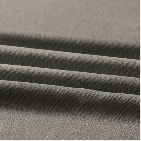 Metropolis Grey Faux Linen Sheer Swatch