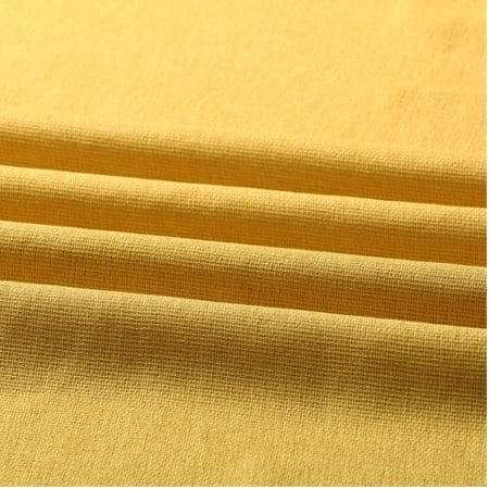 Buttercup Gold Faux Linen Sheer Swatch