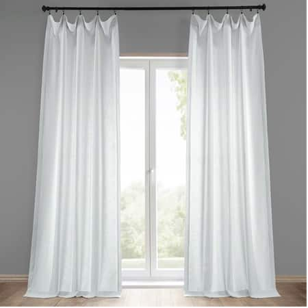 Rice White Heavy Faux Linen Curtain