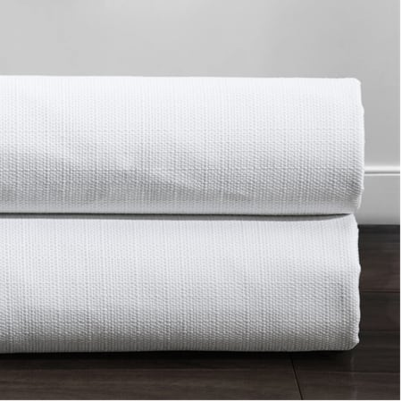 White Italian Textured Faux Linen Hotel Blackout Fabric