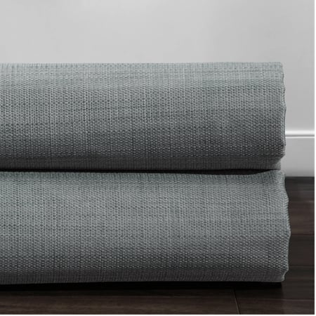 Pebble Grey Italian Textured Faux Linen Hotel Blackout Swatch