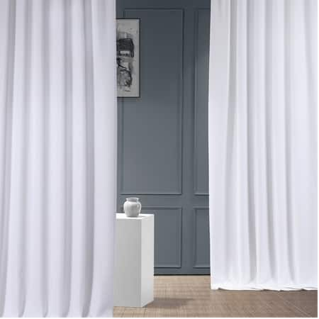 Dove White Italian Faux Linen Curtain