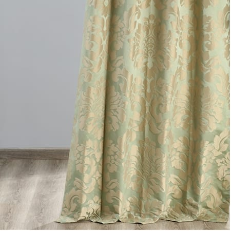 Astoria Jade & Taupe Designer Damask Curtain