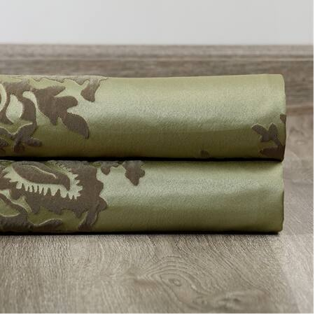 Ellaria Mantis Green Designer Damask Swatch