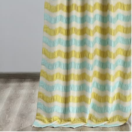 Espen Retro Green & Blue Designer Damask Curtain