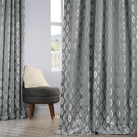 Paragon Blue Faux Silk Jacquard Curtain