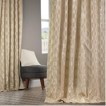 Paragon Camel Faux Silk Jacquard Curtain
