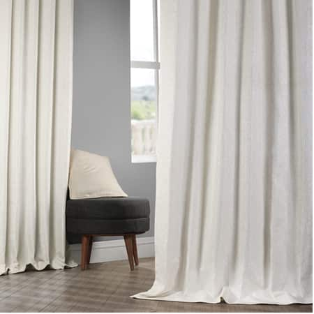 Birchwood Cream Faux Silk Jacquard Curtain