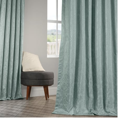 Cambric Larimar Faux Silk Jacquard Curtain