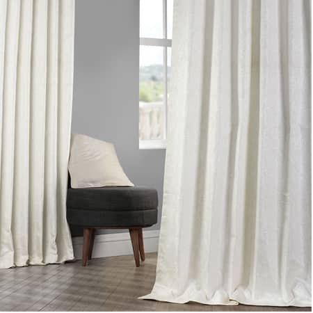Cambric Cream Faux Silk Jacquard Curtain