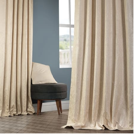 Cambric Sand Faux Silk Jacquard Curtain