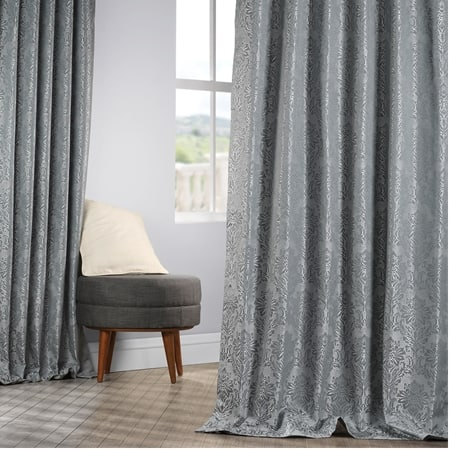 Cambric Blue Designer Jacquard Curtain
