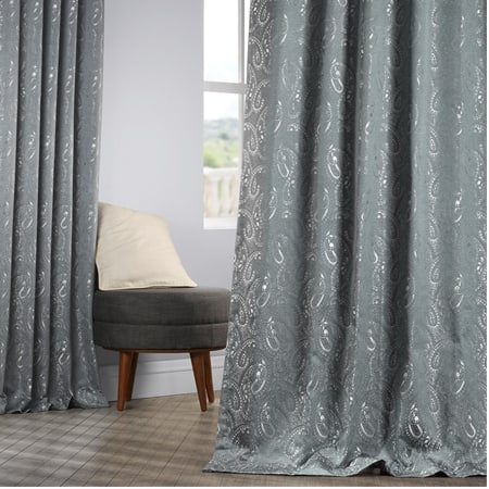 Latika Blue Designer Jacquard Curtain
