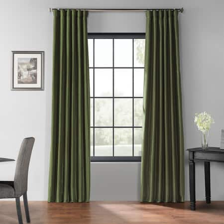 Pine Top Blackout Vintage Textured Faux Dupioni Silk Curtain