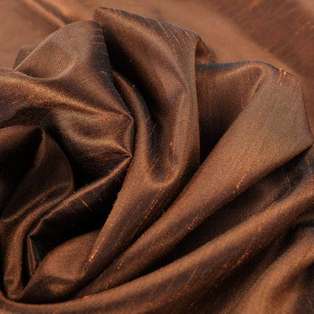 Copper Kettle Vintage Textured Faux Dupioni Silk Fabric