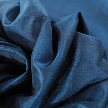 Captian's Blue Vintage Textured Faux Dupioni Silk Swatch