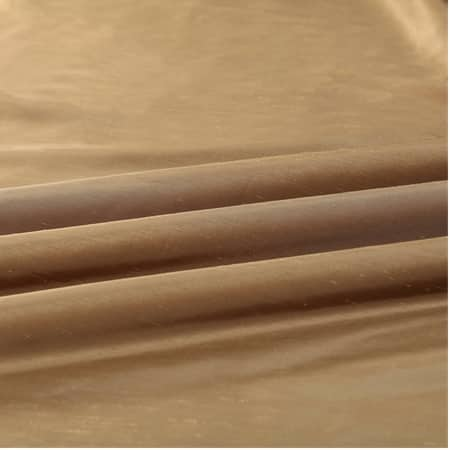 Flax Gold Faux Textured Dupioni Silk Swatch