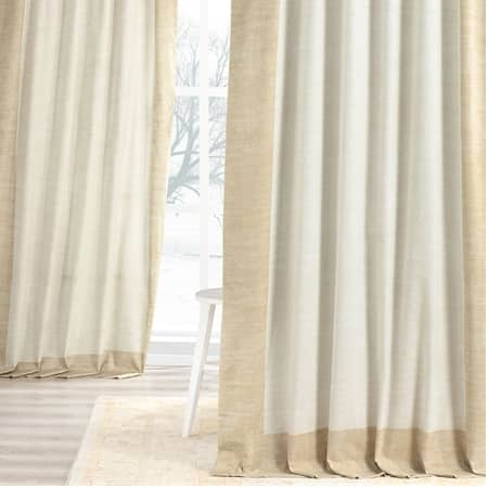 Border Tan Digital Printed Cotton Twill Curtain