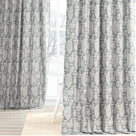 Sierra Blue Digital Printed Cotton Twill Curtain