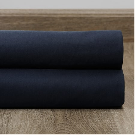 Polo Navy Solid Cotton Blackout Swatch