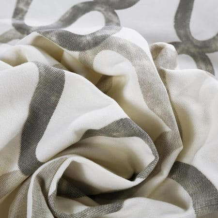 Illusions Silver Grey Printed Cotton Fabric