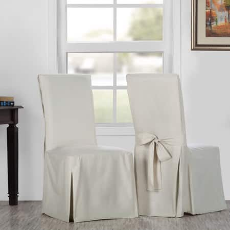Hazelwood Beige Solid Cotton Twill Chair Covers