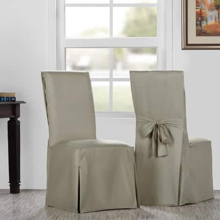 Sandstone Solid Cotton Twill Chair Covers