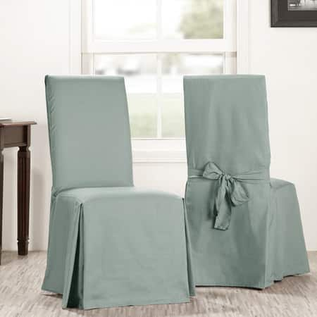 Jasper Stone Solid Cotton Chair Covers (Sold As Pair)