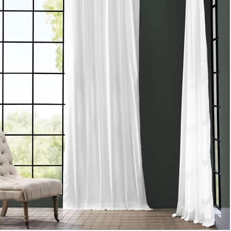 Whisper White Solid Cotton Curtain
