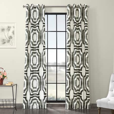 Mecca Steel Grommet Printed Cotton Curtain