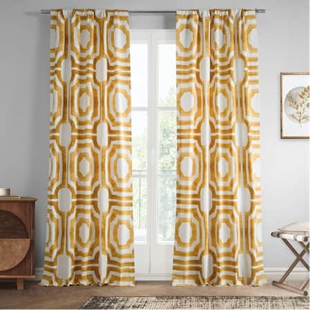 Mecca Gold Printed Cotton Curtain