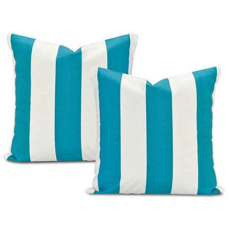 Cabana Teal Printed Cotton Cushion Covers -Pair