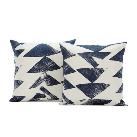 Traid Indigo Printed Cotton Cushion Covers - PAIR