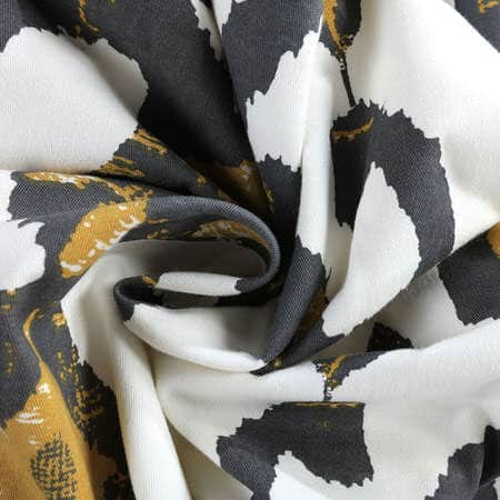 Lumiere Gold Printed Cotton Twill Swatch